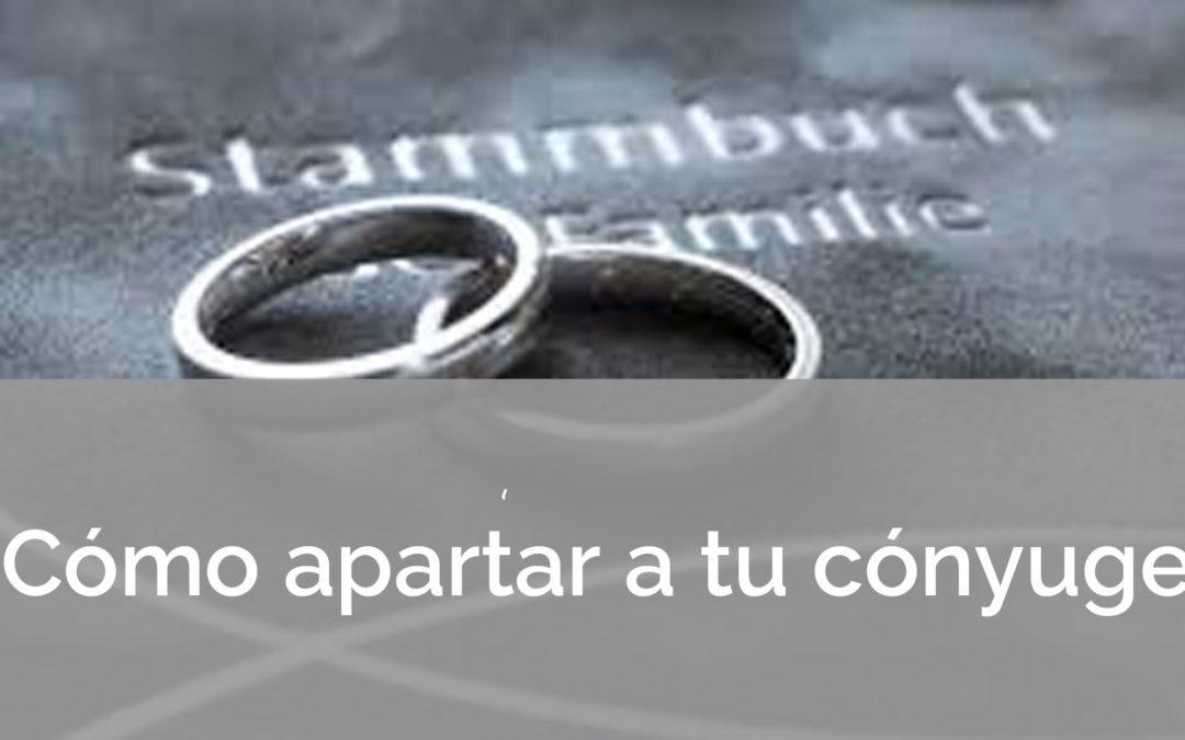 Cómo apartar a tu cónyuge en el matrimonio